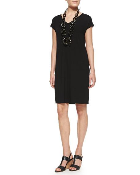 V-Neck Shift Dress, Women's