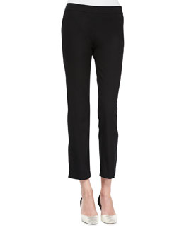 Eileen Fisher Organic Twill Slim Ankle Pants, Black