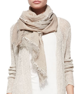 Eileen Fisher Sparkle Cotton/Yak Infinity Scarf