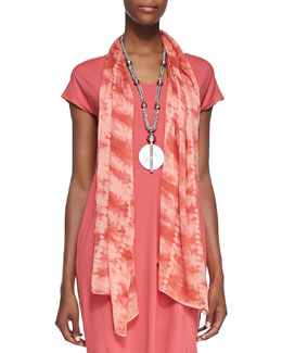 Eileen Fisher Sheer Painterly Scarf, Sunset