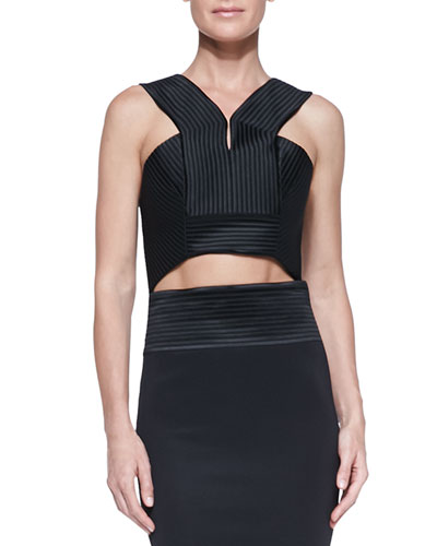 Robert Rodriguez Quorra Ribbed Futuristic Crop Top