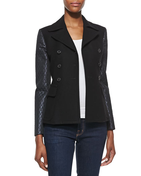 Double-Face Jacket with Quilted Sleeves