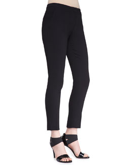 No.21 Slim Cropped Crepe Pants
