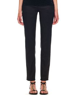 Michael Kors Samantha Slim Pants, Black