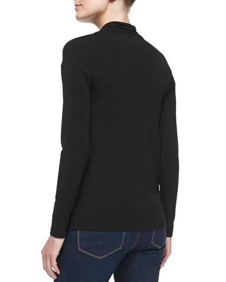 Long-Sleeve Matte Jersey Top