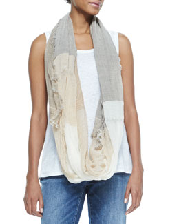 Eileen Fisher Sparkle Striped Infinity Scarf