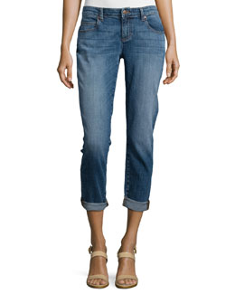 Eileen Fisher Stretch Boyfriend Jeans, Aged Indigo