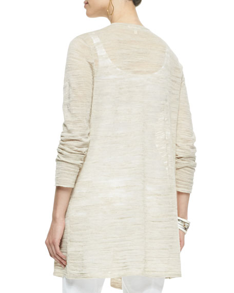 Boucle Stripe Cardigan, Natural