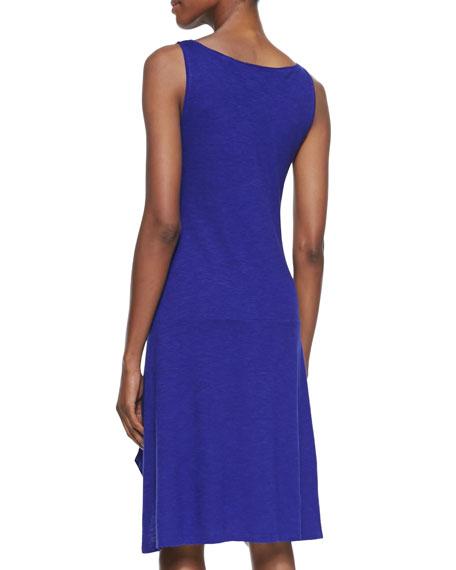 Organic Cotton/Hemp Twist Sleeveless Dress, Petite