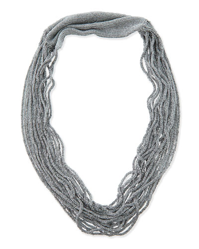 Eileen Fisher Drapey Metallic Necklace