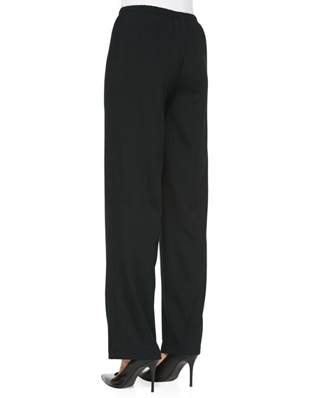 Stretch-Knit Straight-Leg Pants