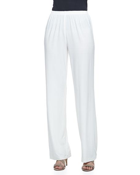 Wide-Leg Pants, White, Petite