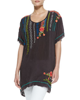 Johnny Was Collection Daja Embroidered Tunic