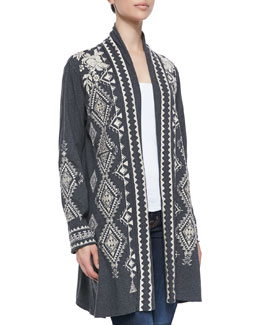 JWLA for Johnny Was Tulia Embroidered Duster Cardigan