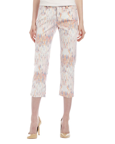 Christopher Blue Chloe Ikat Cropped Jeans