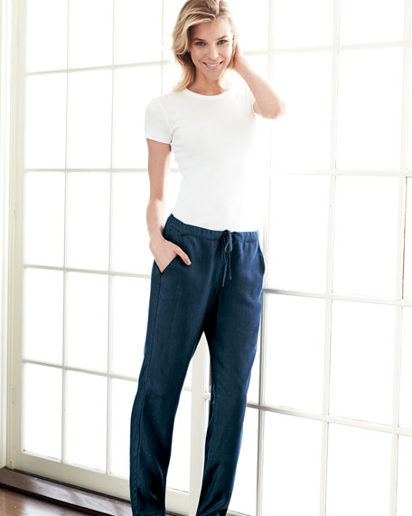 Relaxed Leg Drawstring Pants