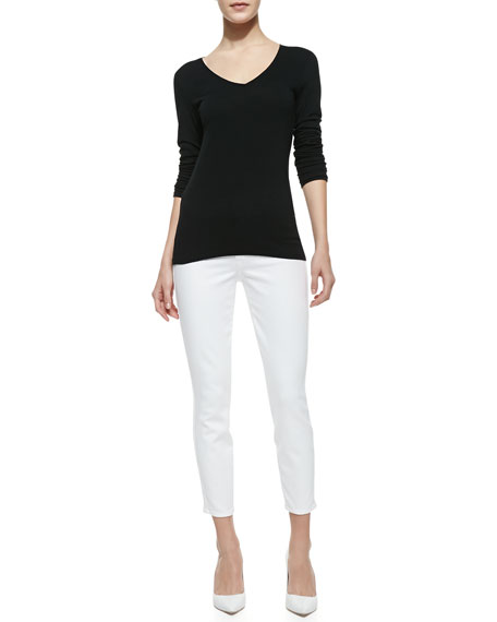 Believe Cropped Jeans, White