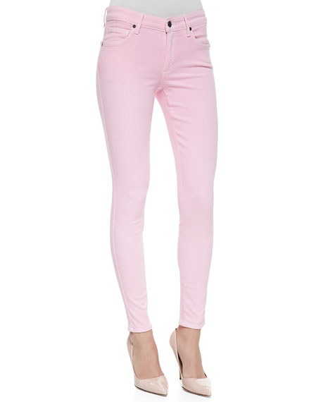 Wisdom Skinny Ankle Jeans, Pink