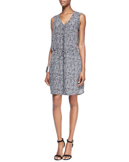 Eileen Fisher Fisher Project Sleeveless Roadster-Print Dress