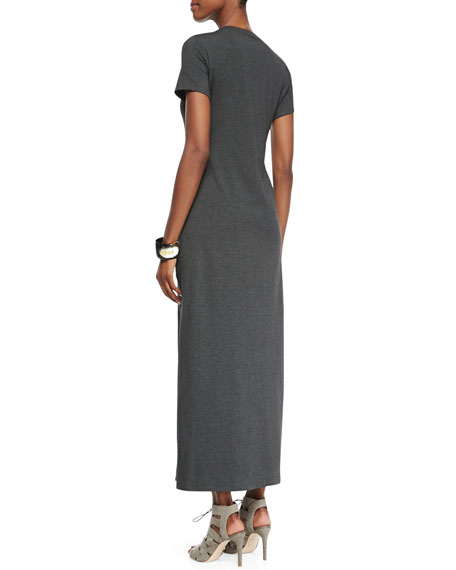 Fisher Project Short-Sleeve Jersey Maxi Dress