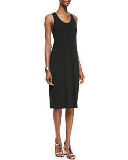 Eileen Fisher Fisher Project Sleeveless Racerback Midi Dress