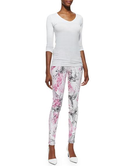 Joy Marbleized Skinny Jeans