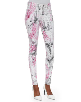 CJ by Cookie Johnson Joy Marbleized Skinny Jeans