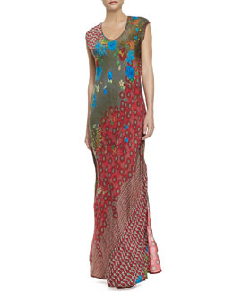 Johnny Was Collection Saydie Printed Maxi Dress