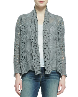 Johnny Was Collection Crochet Coverup Cardigan
