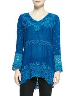 Johnny Was Collection Amilia Georgette Embroidered Tunic
