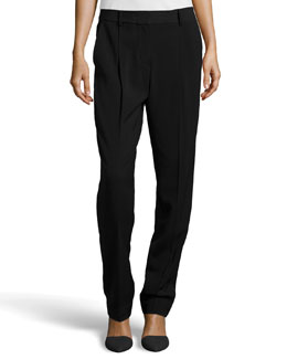 Alexander Wang Pleated Ponte Pants, Black