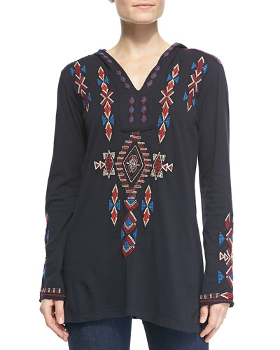 JWLA for Johnny Was Elaine Embroidered Relaxed Hoodie