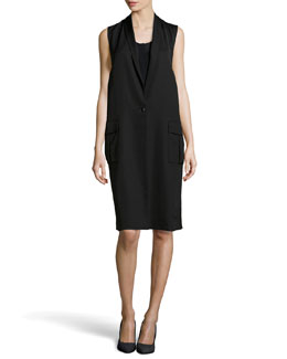 Alexander Wang Shawl Collar Tabard Dress