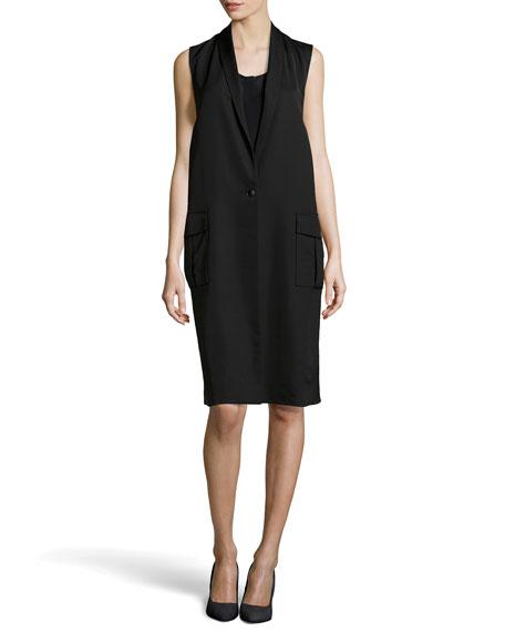 Shawl Collar Tabard Dress