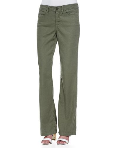 NYDJ Wylie Linen-Cotton Trousers, Petite