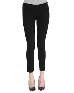 True Religion Linda Cropped Stretch Skinny Jeans, Black