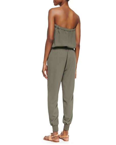 Farley Strapless Jersey Jumpsuit