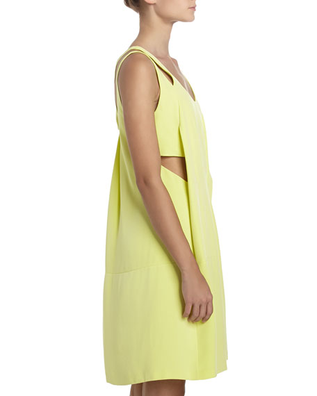 Charmeuse Racerback Sleeveless Dress