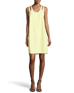Alexander Wang Charmeuse Racerback Sleeveless Dress
