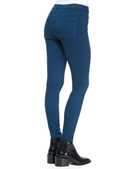 Lightweight Denim Stretch Leggings, Petroleum