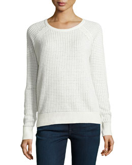 Vince Raglan Thermal Top, Winter White