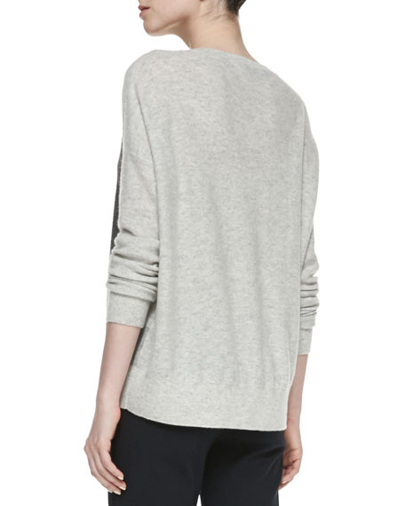 Colorblock Intarsia Cashmere Knit Sweater