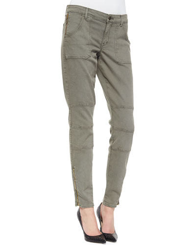 CJ by Cookie Johnson Peace Dyed Moto Jeans, Green