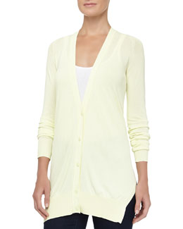 Alexander Wang Fine Gauge Jersey Cardigan, Highlight