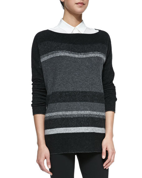 Variegated Marl Boat-Neck Sweater