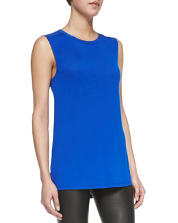 Vince Silk Contrast Muscle Tee