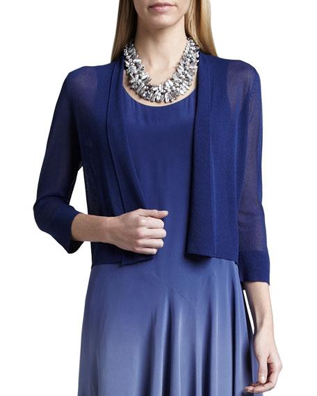 Gossamer Crepe Cardigan, Sapphire, Women's