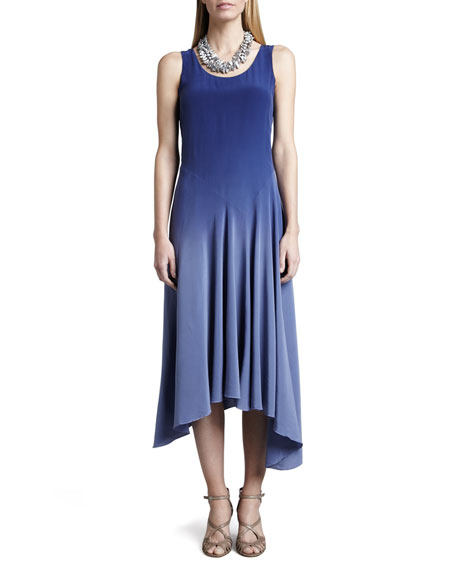 Eileen Fisher Ombre Silk Long Dress, Sapphire