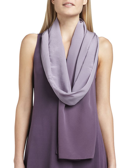 Ombre Silk Crepe Scarf, Wildberry
