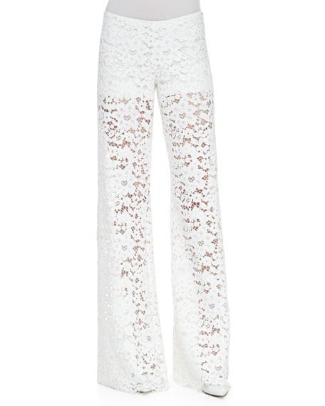 Madrid Lace Wide-Leg Pants